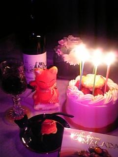 ♪ケーキのろうそくを・・・