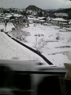 雪が積もってる〜