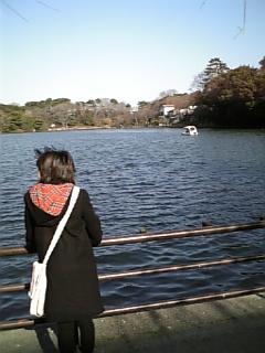 『夕凪ぎの池』